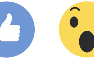 see first facebook icons